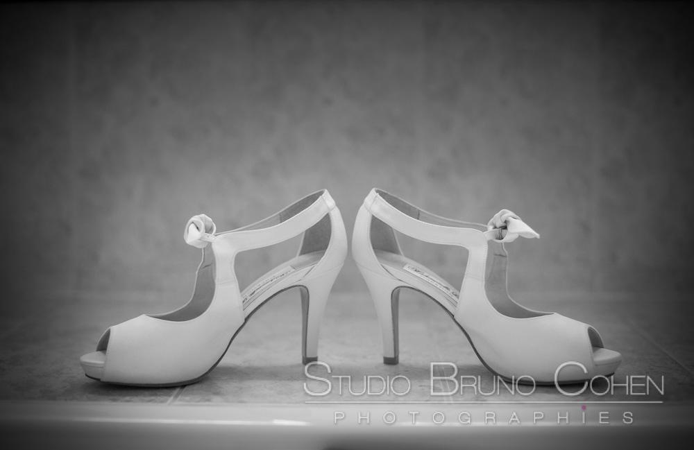 escarpins de la mariee