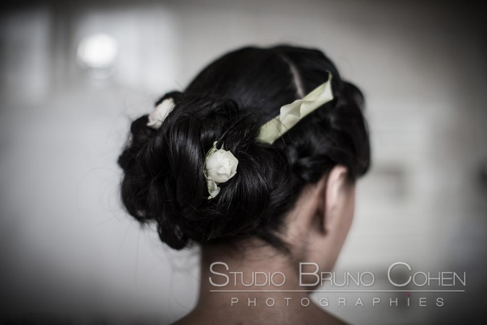coiffure de la mariee