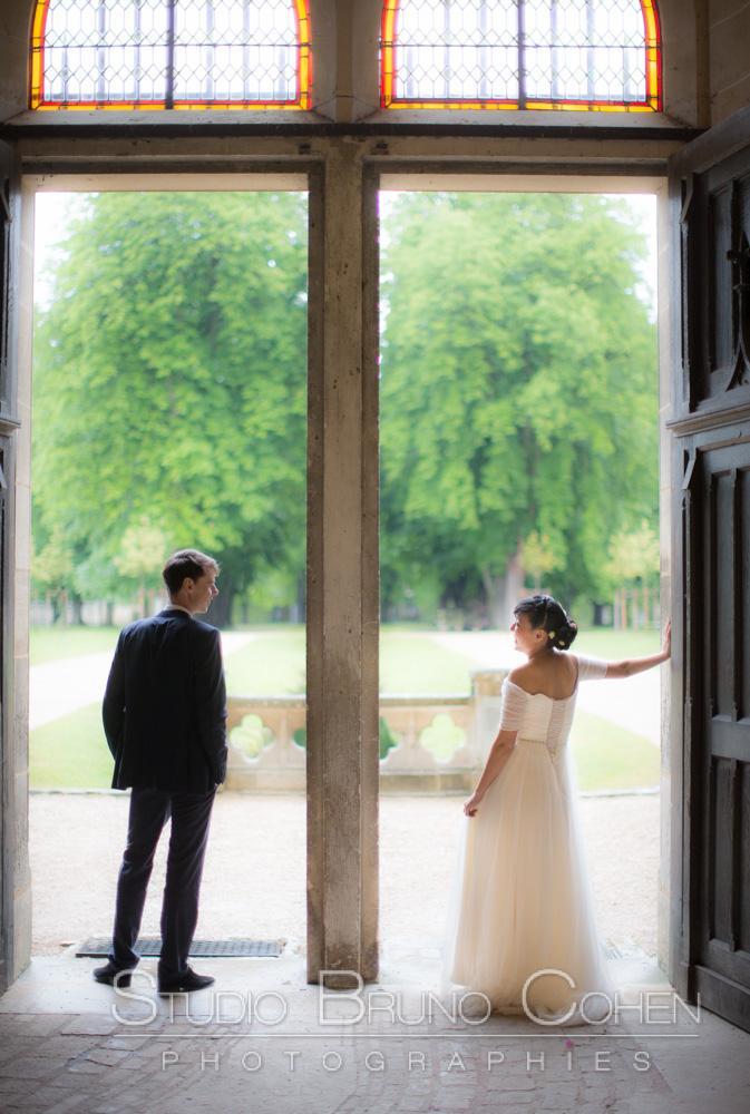 maries devant les portes ouverte sur le parc