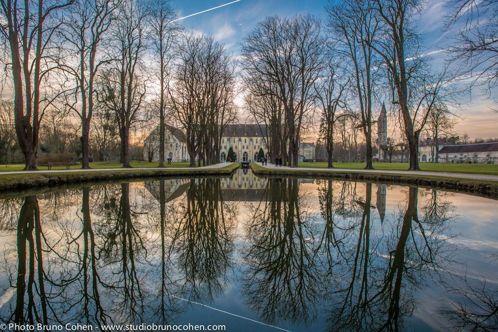 abbaye de royaumont en journee