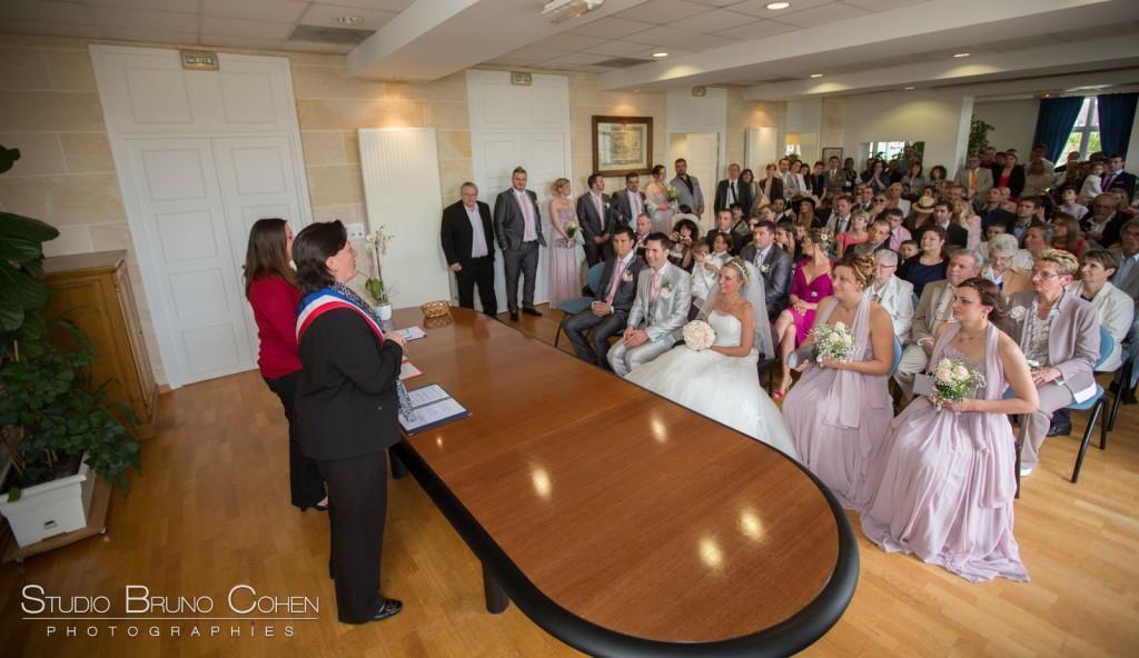 cérémonie de mariage civil à la mairie de gouvieux