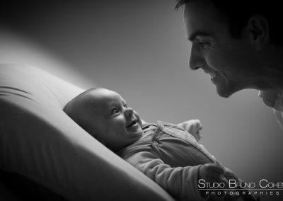 photographe oise portrait bébé père