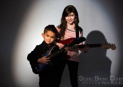 photographe oise portrait studio casting enfant frère soeur guitare