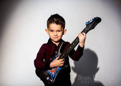 photographe oise portrait studio casting enfant guitare