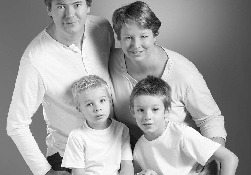 Portraits de famille avec Nathalie, Benoît, Louis et Emile