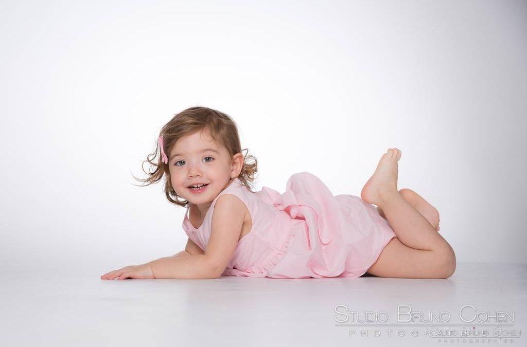 Séance photo avec une jolie princesse…Voici Agathe, 2 ans !