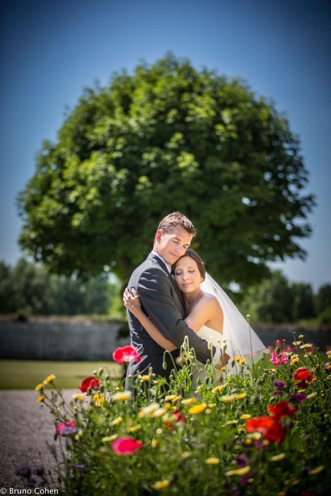 maries enlaces dans le parc du chateau