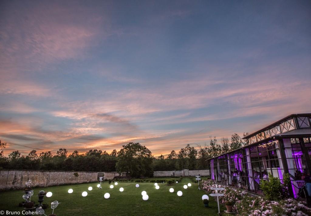decoration lumineuse dans le parc du chateau de la trye