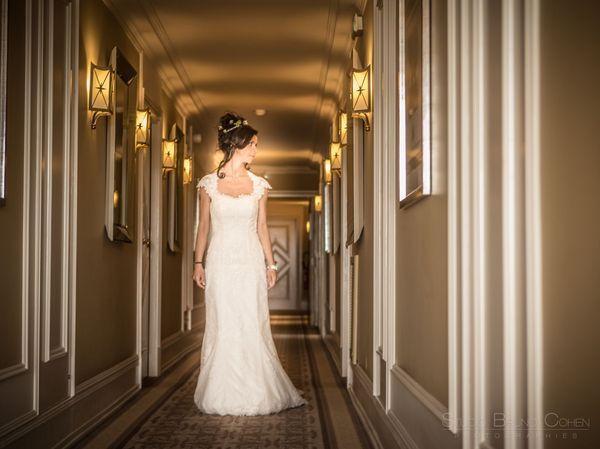 mariee dans les couloirs du mont royal