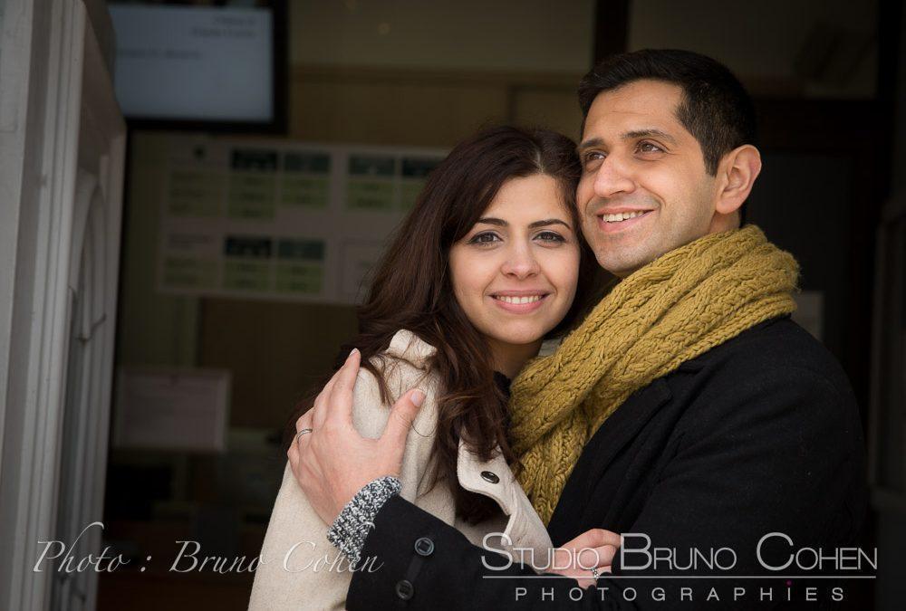 Safa & Ali portraits de couple avant le Mariage