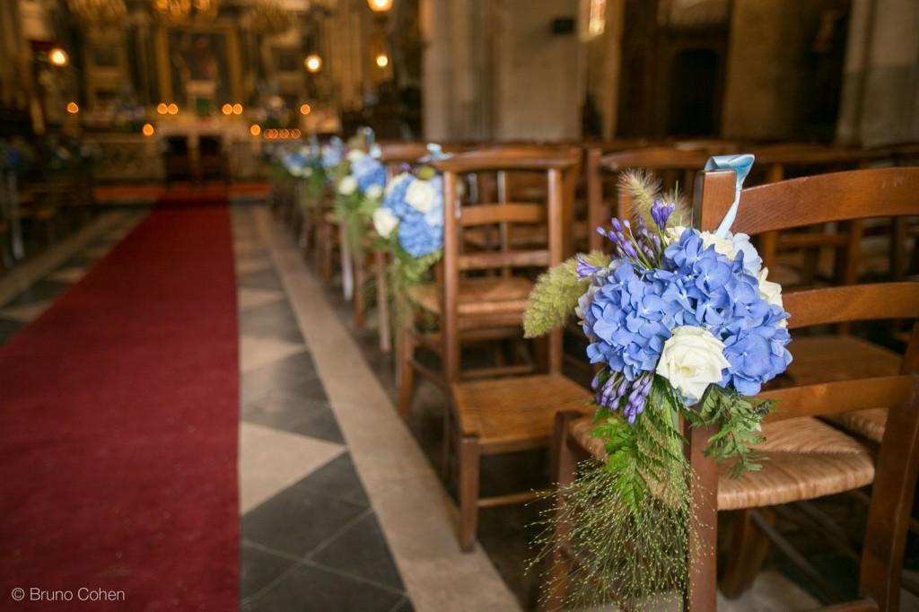 decoration florale dans l'eglise d'ermenonville