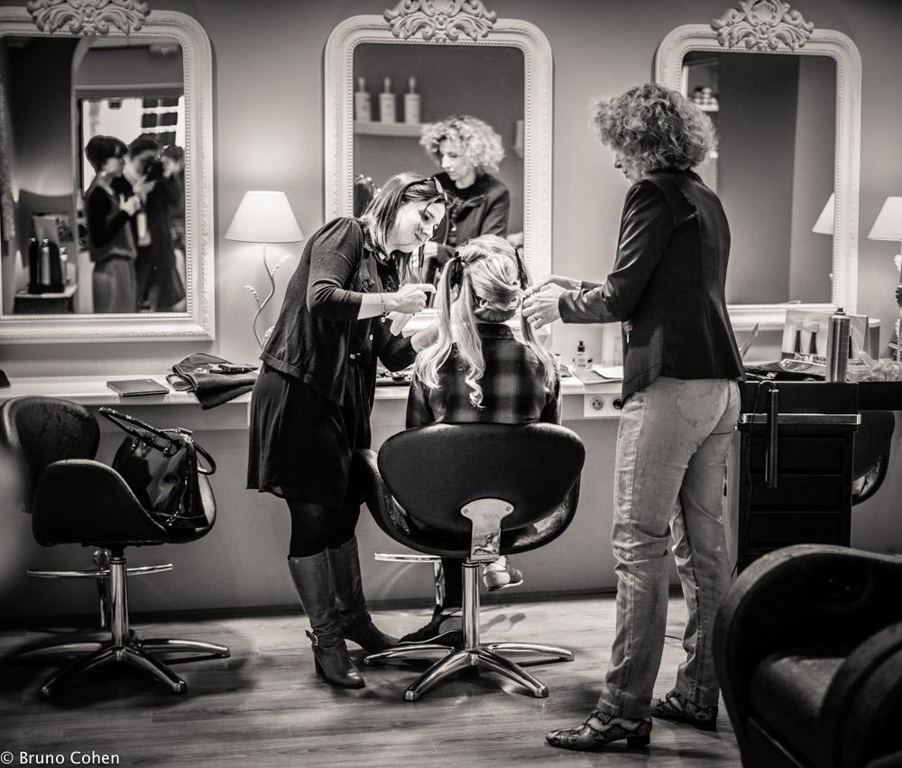 Mariee se fait coiffer chez datin coiffure a chantilly