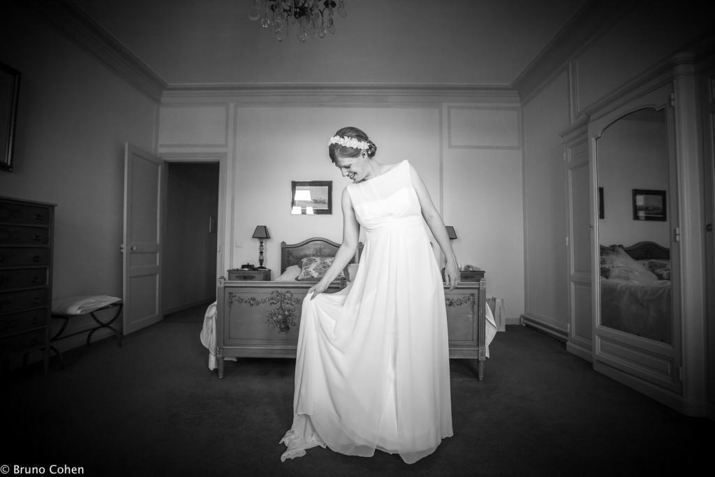 mariee dans sa chambre du pavillon henri IV
