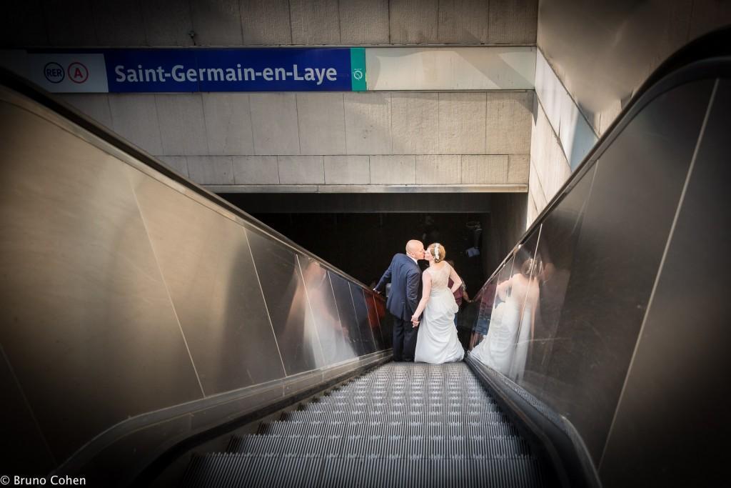 mariage pavillon henri IV saint germain en laye photo des maries