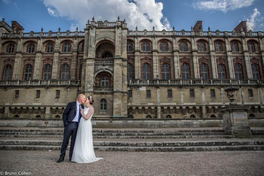 mariage pavillon henri IV saint germain en laye photo mariés