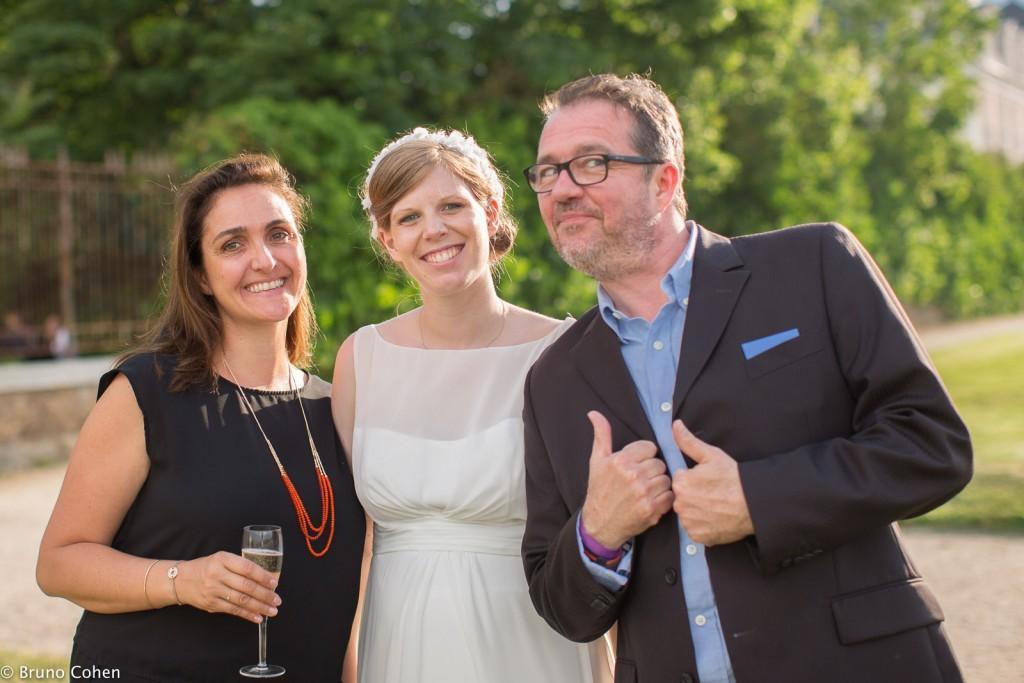 mariage pavillon henri IV saint germain en laye mariée avec invités
