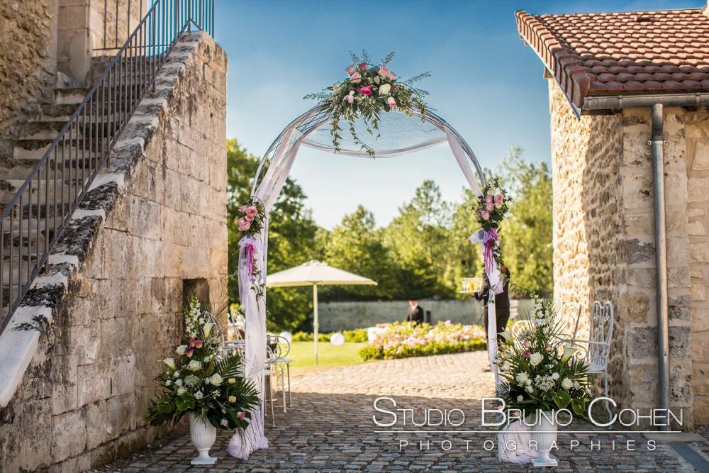 arche et decoration florale