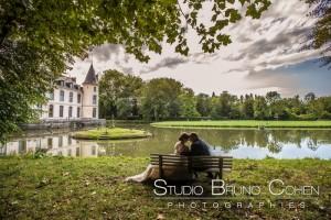 mariage-chateau-ermenonville-oise-banc-maries-parc