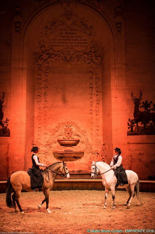 spectacle equestre a l'occasion du gala de la societe empreinte