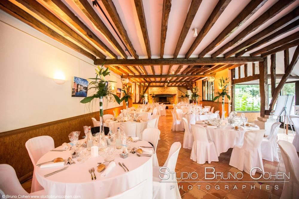 Salle de mariage dressée au Domaine du colombier Saint léger en Bray Oise-mariage