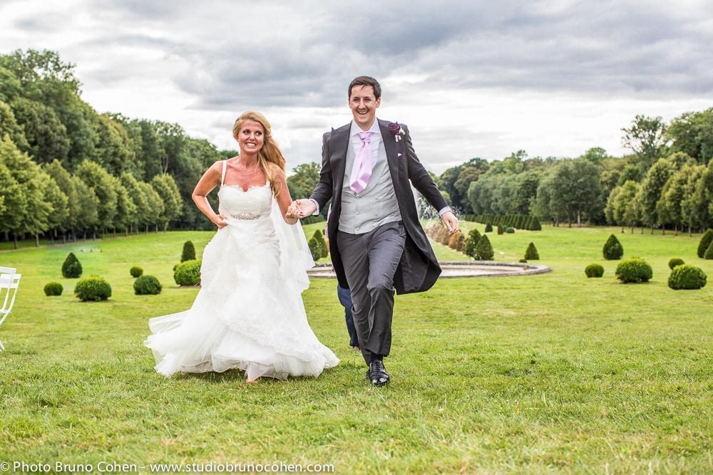 maries dans le parc du chateau de champlatreux
