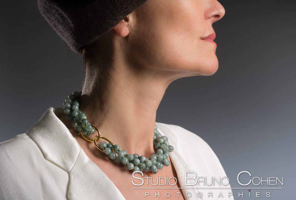 Photos de bijoux en pierres semi précieuse pour un site Internet