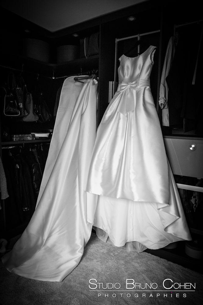 mariage-chantilly-mercure-chantilly-robe-mariée-noiretblanc