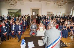 mariage-mairie-luzarche-couple-invités-ceremonie-civile