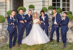 mariage-chateau-champlatreux-mariée-temoins
