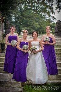mariage-chateau-verderonne-eglise-borest-couple-mariés-temoins-bouquet-fleurs