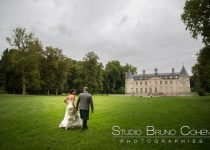 mariage-chateau-verderonne-eglise-borest-oise-couple-mariés-parc