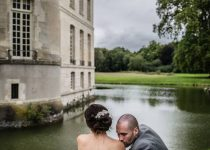 mariage-chateau-verderonne-eglise-borest-oise-couple-mariés-baiser