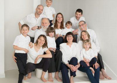 famille, couleur, sourire, ensemble, studio