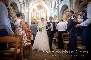 mariage-eglise-vincennes-mariée-robe-pere-fille