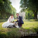 mariage-abbaye-royaumont-famille-chien-parc-couple