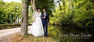 mariage-abbaye-royaumont-couple-mariés-parc-photographie
