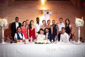 mariage-abbaye-royaumont-invités-couple-mariés-soirée