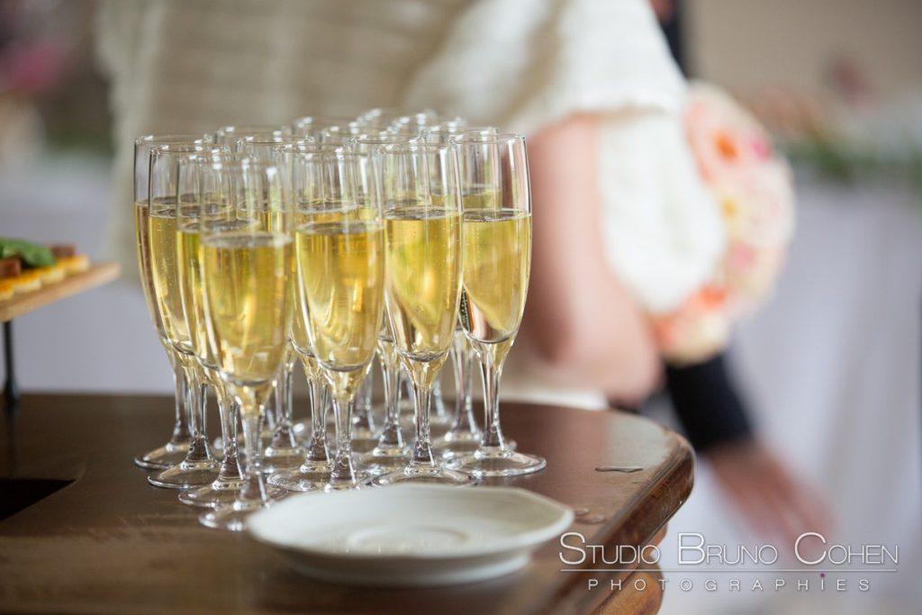 coupe de champagne pour le cocktail