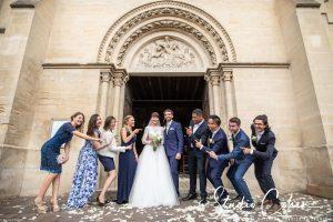 mariage-eglise-coye-la-foret-sortie-témoins