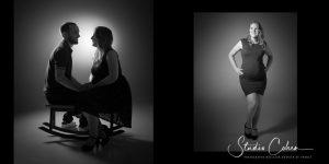 portraits de couple en noir et blanc