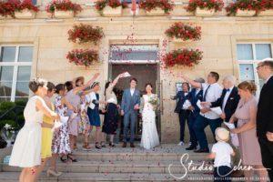 Photo mariage sortie d'église